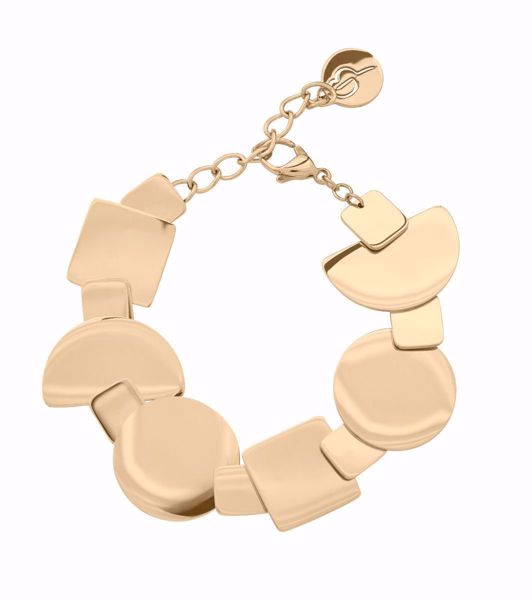 Bilde av 109280 SHAPES BRACELET GOLD