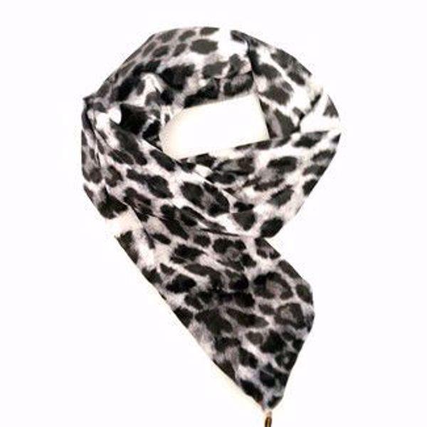 Bilde av Hårbånd med wire - Velur leopard sort/grå