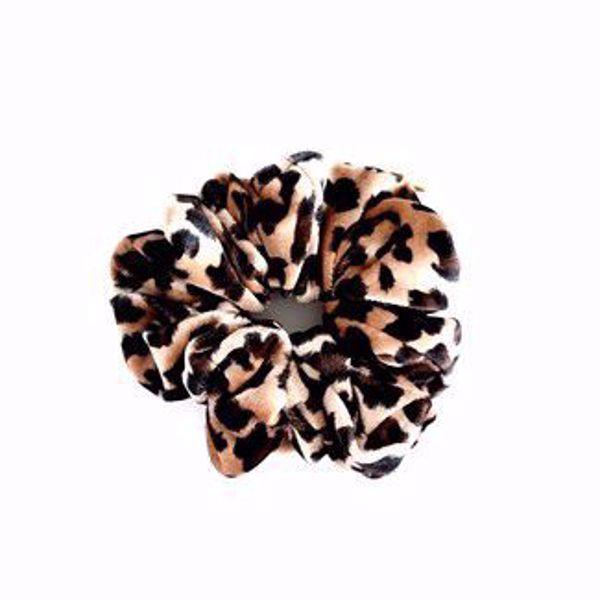 Bilde av Scrunchie Stor - Leopard lys brun