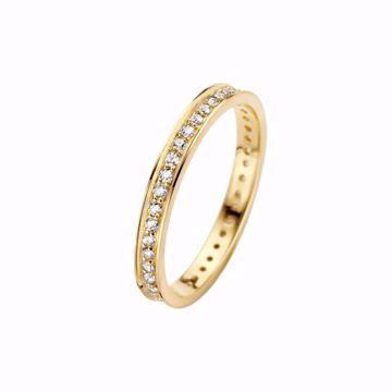 Bilde av Chic Ring 2,5 mm, gult gull med diamanter - 0,43ct W/VS