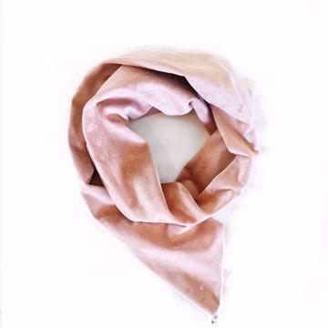 Bilde av Hårbånd med wire - Suede lys rosa