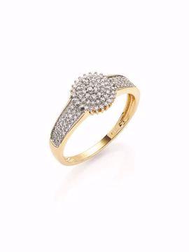 Bilde av 100064.54 GD 100 DIAMONDS GRACE RING I GULL MED 0,25CT W/SI DIAM