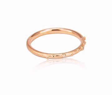 Bilde av 1103RG Shine Ring - rosegull med diamanter 0,015 ct TWVS str 56