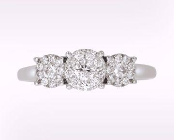 Bilde av Alexandra - ring hvitt gull med diamanter 0,50 ct WSI